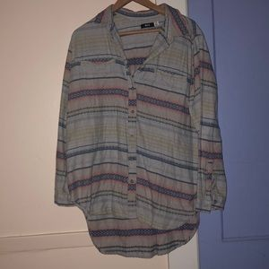Urban Outfitters Striped Flannel
